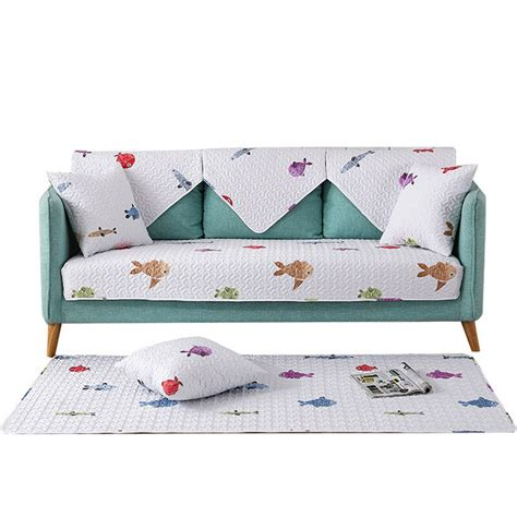 Living Room Seat Covers by 100 Cotton Sofa Towel Fish Sofa Fabric Covers