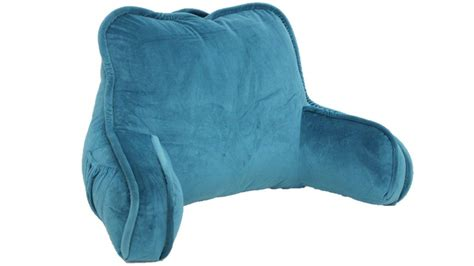 backrest pillow with arms bed rest reading pillow arms plush polyester fabric back