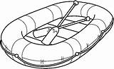 Raft Clipart Inflatable Rafting Coloring Transportation Preschool Outline Template Sketch Theme Cliparts Clip Boat Clipground Transporte Bible Rafts Library Vinyl sketch template