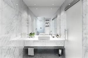 Salle De Bain Marbre Blanc : salle de bain marbre 50 exemples d 39 am nagement ~ Nature-et-papiers.com Idées de Décoration
