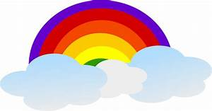 Images For > Rainbow With Clouds Clipart - Cliparts.co