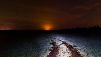 Night Starry Horizon 8k Field Sky Nature