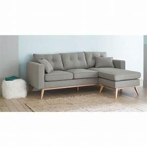 Canapé D Angle Modulable : canap d 39 angle modulable style scandinave 4 5 places gris ~ Melissatoandfro.com Idées de Décoration