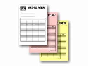 Invoice with carbon copy carbonless duplicate triplicate for Custom carbon copy invoice pads
