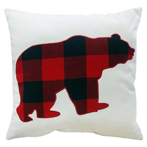 decorative pillow plaid bear home home decor pillows throws slipcovers decorative
