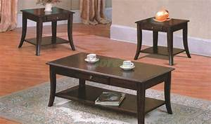 grus wooden coffee table set with drawers xiorex With coffee table sets with drawers