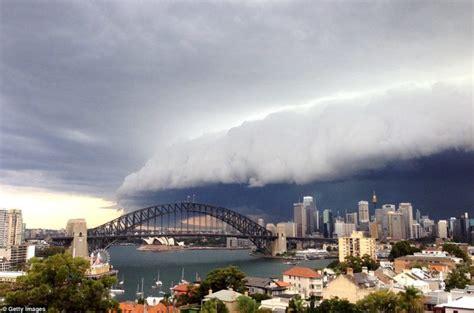terrifying storm front  sydney photo