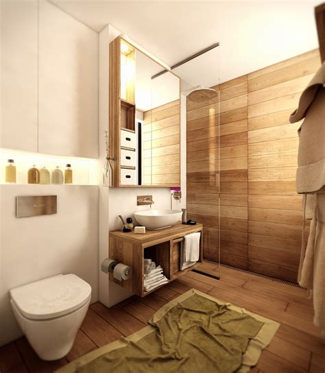 Badezimmer In Holzoptik wood floor bathroom interior design ideas