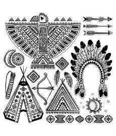Native American Symbols Coloring Pages