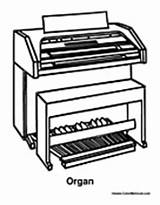 Organ Music Instrument Coloring Pages Upright Sheets Colormegood sketch template