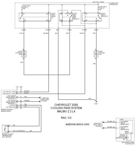 2009 Chevy Malibu Electrical Diagram by Chevrolet Cooling Fans System Diagramas Ventiladores