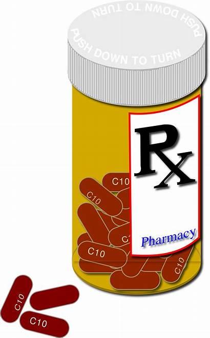 Prescription Bottle Pills Clipart Svg Pharmacy Plain