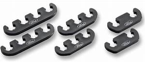 Plug Wire Separator Set W   Ford Logo Black  79