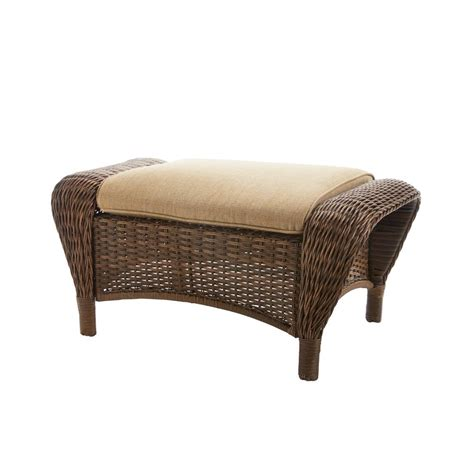 Patio Ottomans - patio ottoman chair water weather resistant toffee cushion