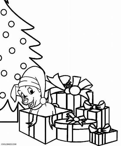 Coloring Christmas Pages Puppy Puppies Printable Husky
