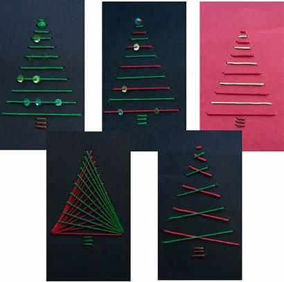 Weihnachten Grundschule Basteln Sticken Fadengrafik Hasenklasse Geometrisches
