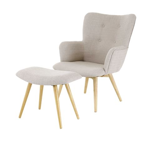 fauteuil et repose pieds beige stock inwood absolument