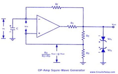 Square Wave Generator Using Amp Electronic Circuits