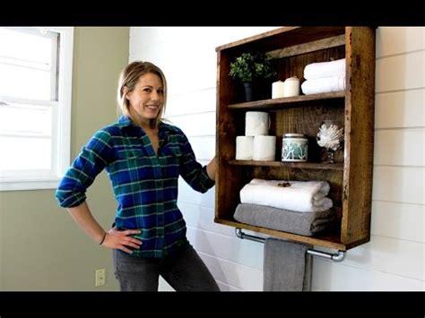 bathroom towel rack ideas the 20 rustic bathroom cabinet easy diy project