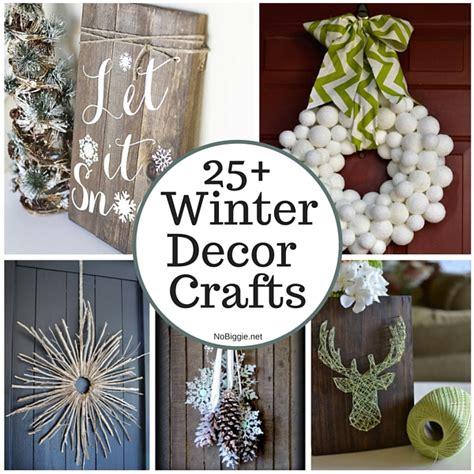 winter decor crafts nobiggie