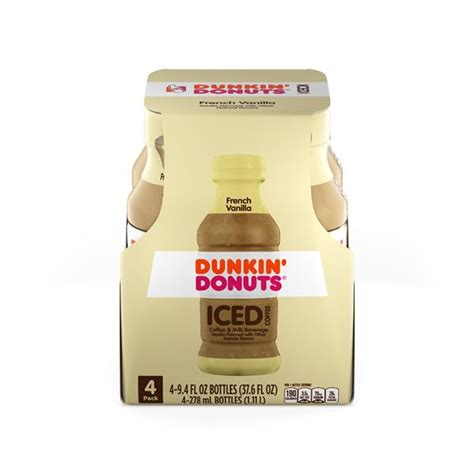 Our french vanilla ground coffee is downright dynamite. Dunkin Donuts ICED French Vanilla Coffee 4 - 9.4 fl. oz ...