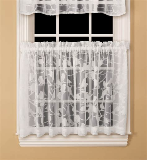 Kmart White Sheer Curtains by Colormate Chickadee Tier Curtain White