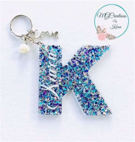letter keychain initial keychain initial key ring letter etsy acrylic keychains diy resin