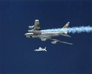 B-52 with F/A-18 Chase Before X-43A Air Launch   NASA