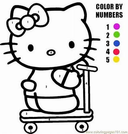 Kitty Hello Coloring Pages Sheets Activity Number