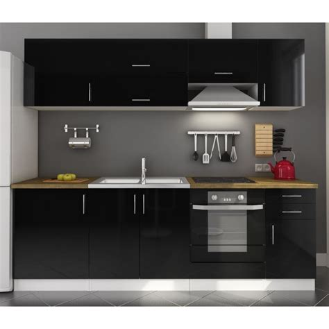 meuble cuisine laqué idée meuble de cuisine noir laque