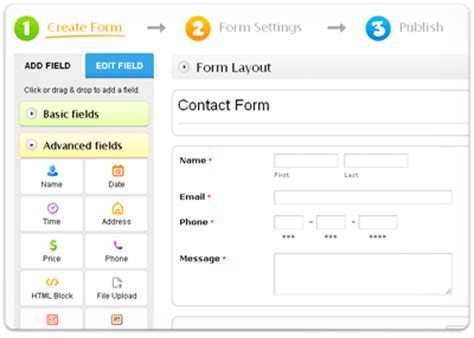 free web form builder 123contactform