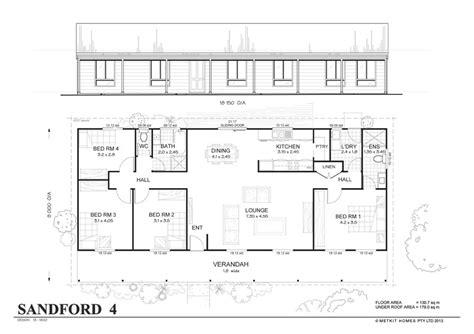 simple 4 bedroom floor plans sanford 4 met kit homes