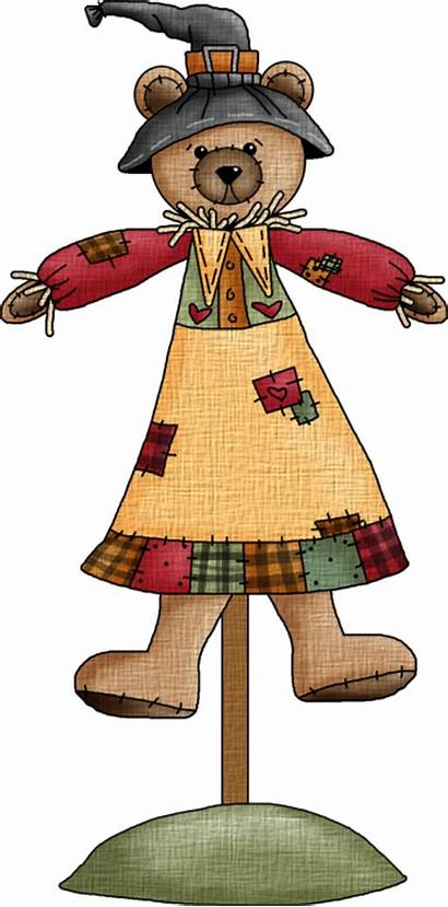 Clip Fall Clipart Teddy Autumn Thanksgiving Country