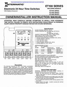 Download Free Pdf For Intermatic Et103c Time Switches
