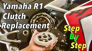 Yamaha R1 Clutch Replacement  Step By Step Detailed