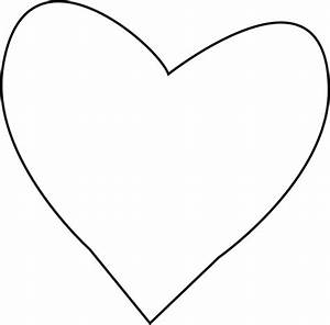 Black and White Heart for Letter H Clip Art - Black and ...