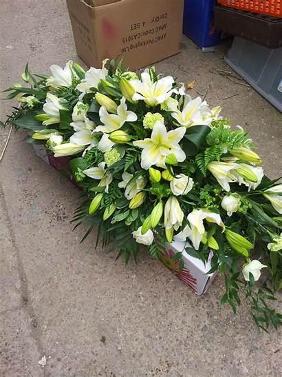 Sprays Coffin Funeral Flowers Handsaker Floral Designs