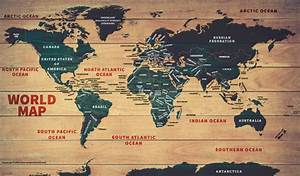World Wood Map Poster