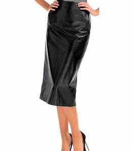 Jupe Crayon Noir : jupe longue cuir style crayon agneau noir mod le modaline haut de gamme existe en grande taille ~ Preciouscoupons.com Idées de Décoration