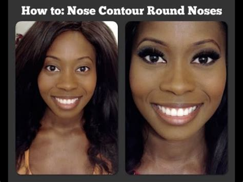 contour wide noses slim  nose  minutes youtube