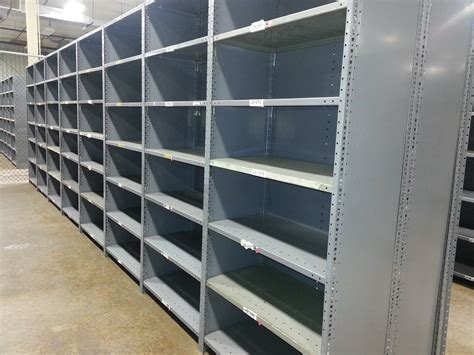 New & Used Industrial Steel Shelving, Republic, Clip Style