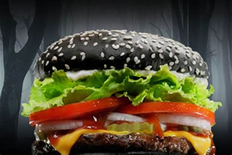 Black Bun Whopper Burger King Halloween