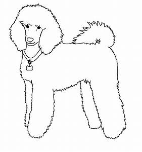 free poodle line art by dailyadoptables on deviantart With poodle template printable