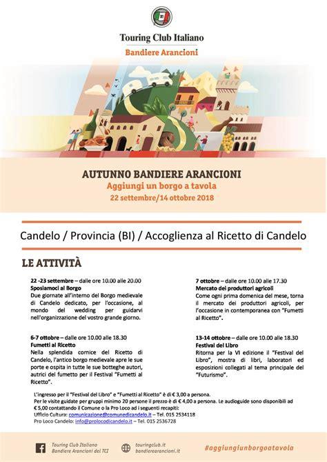 Candelo Eventi by Autunno Bandiere Arancioni A Candelo Eventi Arte E Cultura