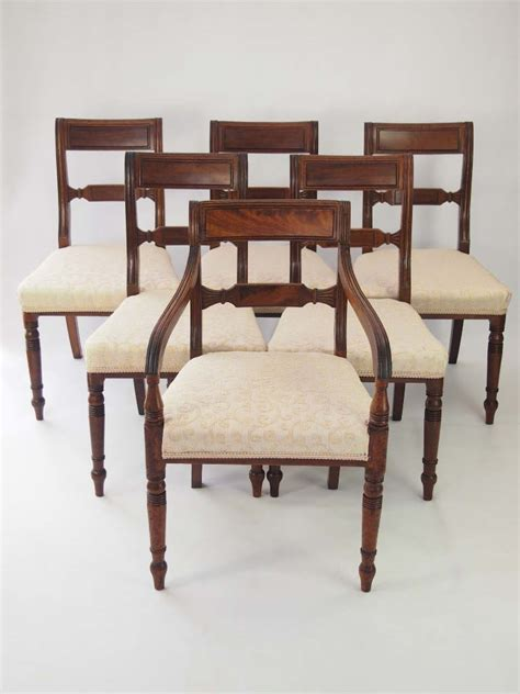 Dining Chairs For Sale by Set 6 Antique Regency Mahogany Dining Chairs For Sale