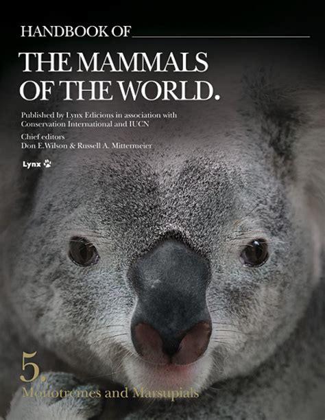 handbook   mammals   world volume  monotremes