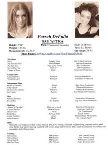 acting and modeling resumeacting and modeling resume farrah s acting and modeling resume