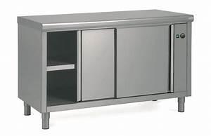 meuble bas chauffant 140x70 cm avec une etagere reglable With meuble bas cuisine porte coulissante