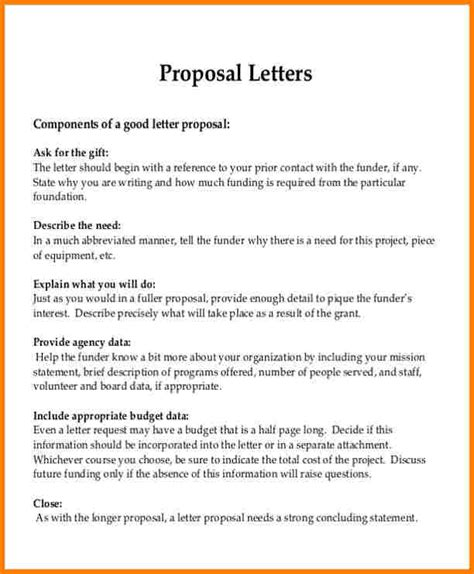 formal proposal template  invoice letter