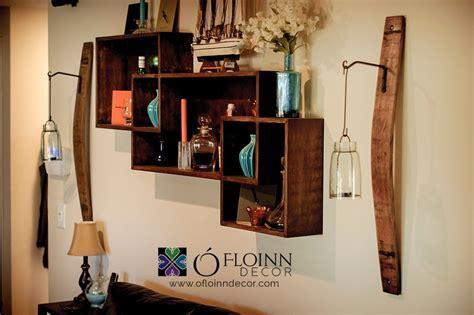 Wine Barrel Stave Sconce with Hook   O'Floinn Decor